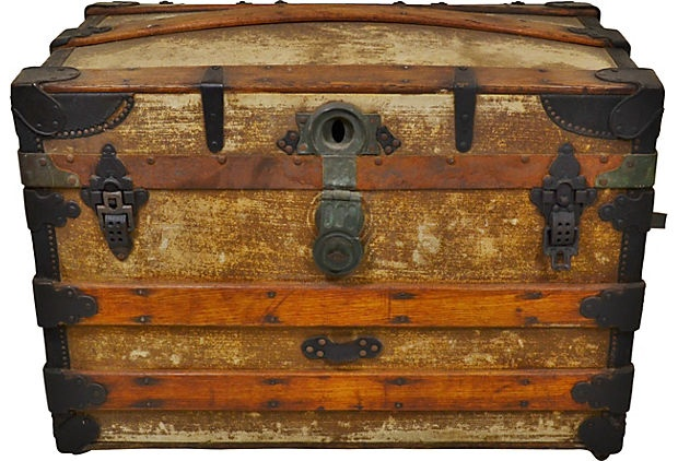 Steamer Trunk on OneKingsLane.com.  I want one of these so bad I can't stand it.  But I want a bigger one.