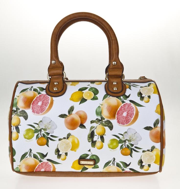 Fruit print bag from Aldo