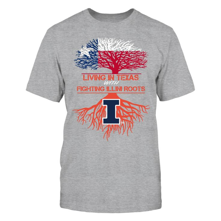 Illinois Fighting Illini - Living Roots Texas Front picture Illinois Fighting Illini fan. This t-shirt is a wonderful gift for you, your father, brother, sister, mother, grandfather, grandmother, aunt, uncle, fire boy, niece for parties, birthday, Father's Day, Thanksgiving, Christmas, New Year