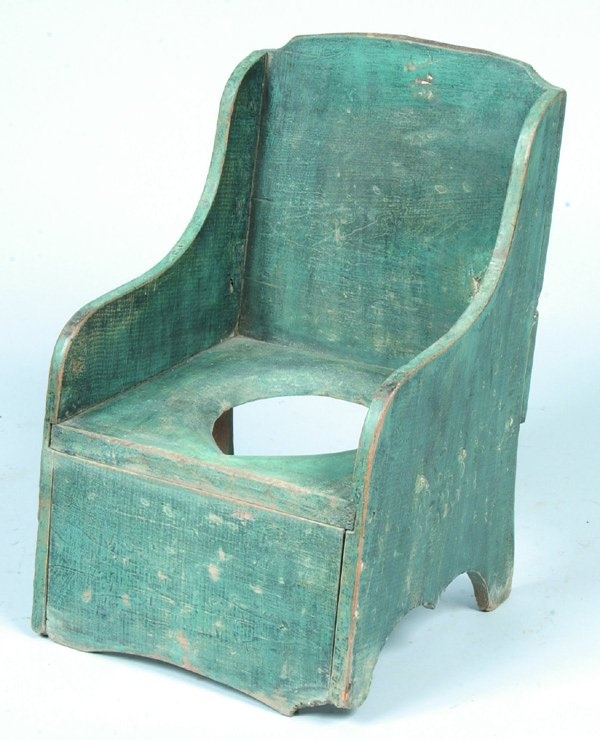 Blue Softwood Child's Potty Chair Commode, plank s in 2020
