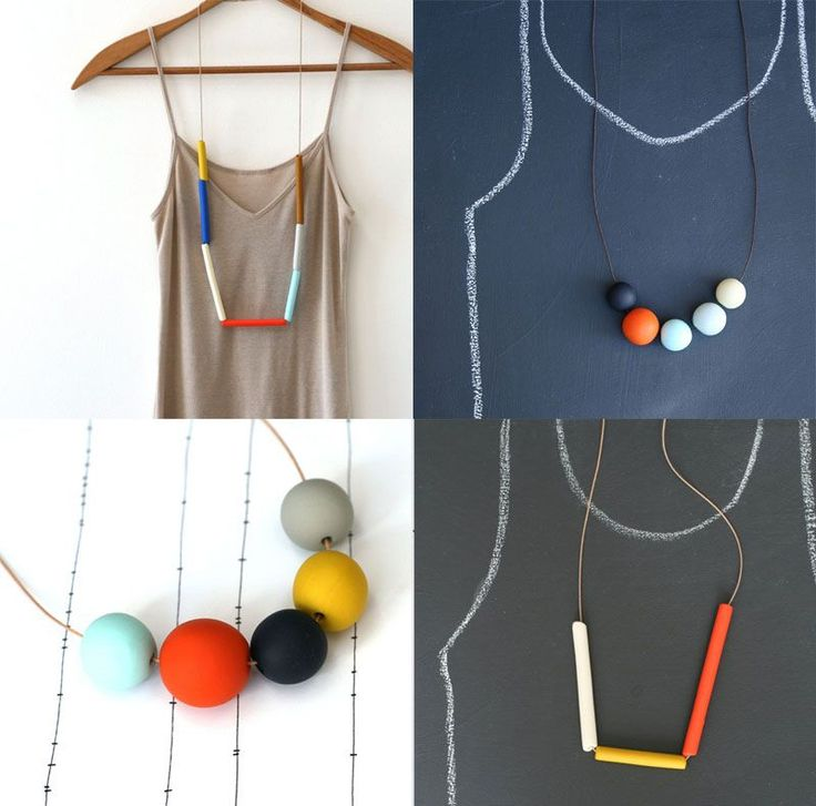 not tuesday's necklaces are simple, sophisticated, and come in the perfect palettes. just a few of the reasons this at the tipy-top of my lust list… clever styling, too!