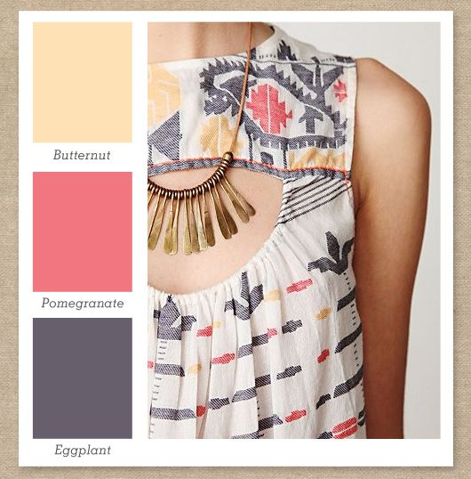 Pale Yellow, Pink and Gray Purple Color Palette by Sarah Hearts