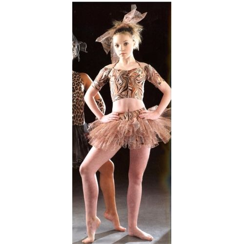 Image detail for -Leopard or Tiger Animal Print Cats Tutu Dance Costume