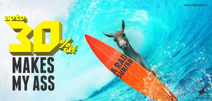 Make that ass of yours ride those high tides to a Fastrack store! Get up to 30% OFF on watches, sunglasses and a whole lot more.