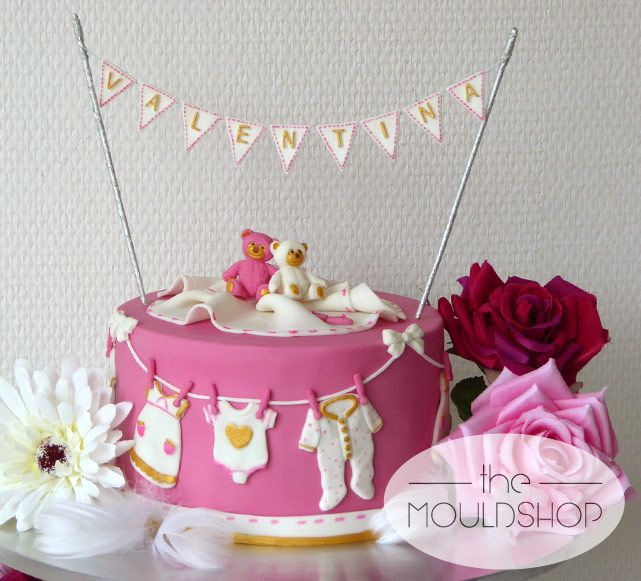 Large cake beautifully decorated using a range of Katy Sue moulds. We love it!