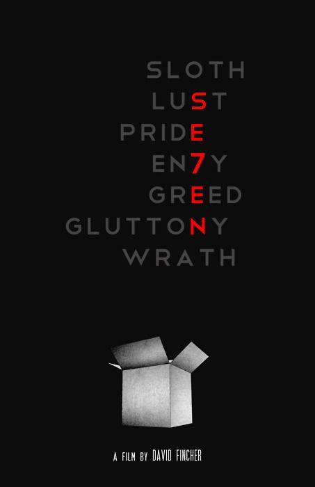 Se7en, Seven minimalist movie poster