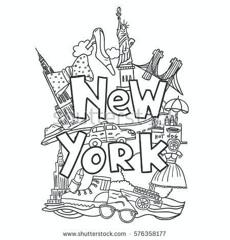 New York City Color Pages New City Coloring Pages Unique Empire New  York Drawing, Coloring Books, Easy Coloring Pages