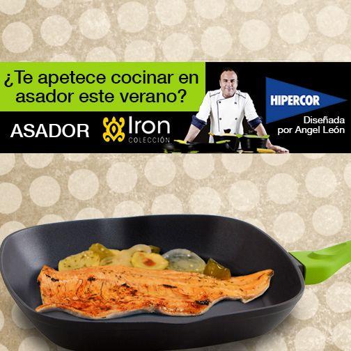 Tus platos de pescado más apetitosos con la plancha Iron by Ángel León. Consigue la batería de cocina del Chef del Mar con un descuento del 25% en Hipercor