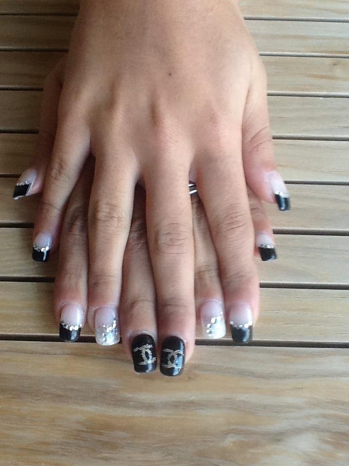 Chanel Black Swarovski