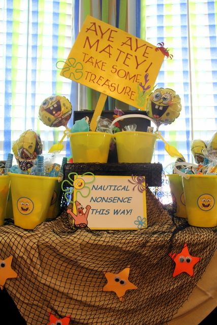 "Photo 1 of 25: Spongebob Water Bash / Birthday ""Bikini Bottom Birthday"" | Catch My Party"