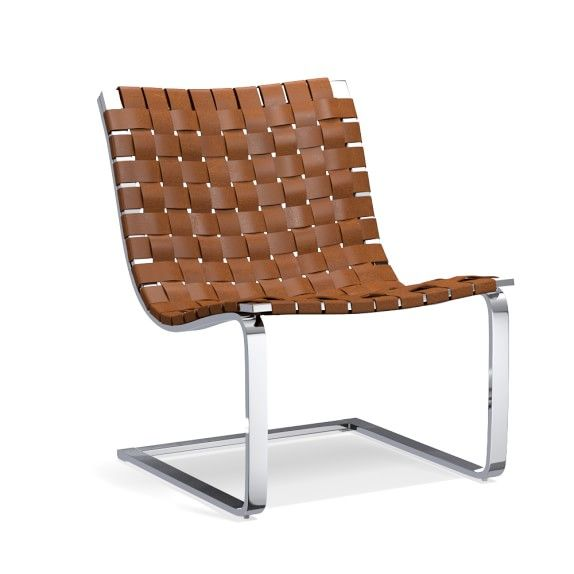 Brentwood Woven Leather Chair | Williams-Sonoma