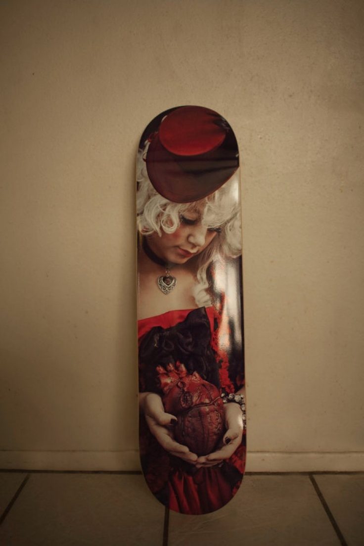 Dark Heart Gothic Skateboard Deck for sale by Locked Illusions at MoreThanHorror.com