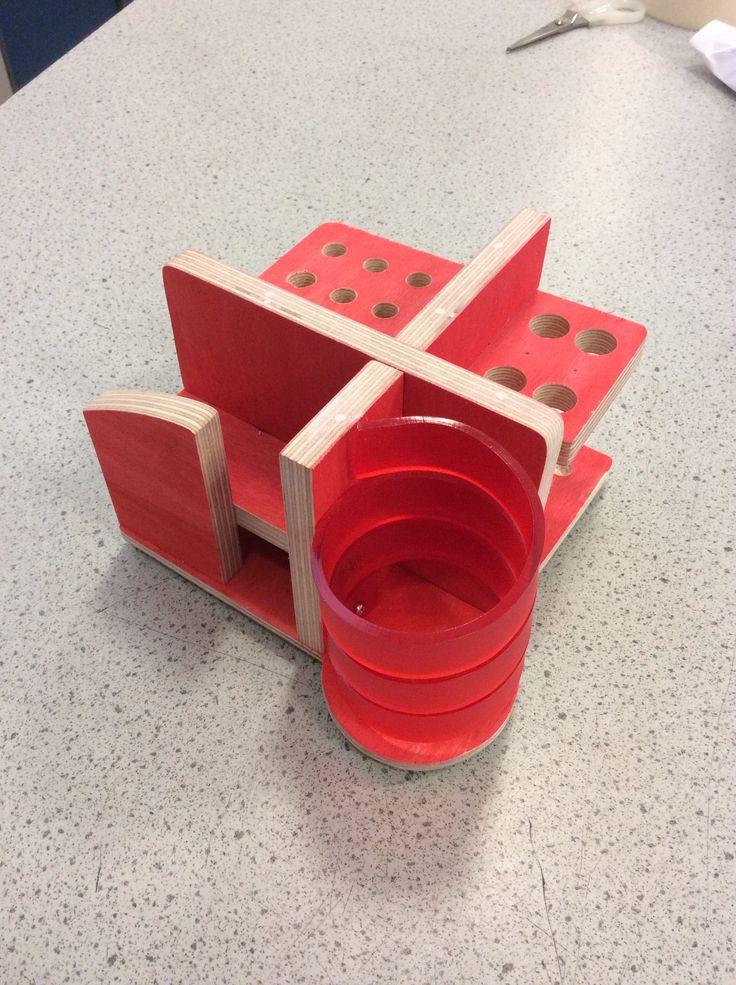 Bauhaus inspired desk tidy yr 10 | organizers | Desk tidy ...
