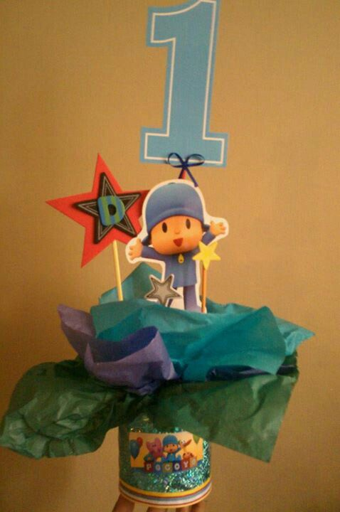 Pocoyo Center Pieces Detail: formula can wrapped frm gift paper sticker printout frm google & 136 best festa pocoyo images on Pinterest | Parties Birthday ... Pezcame.Com