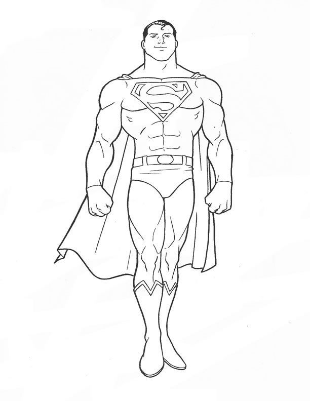 free printable superman coloring pages for kids - Superman Coloring Pages Kids