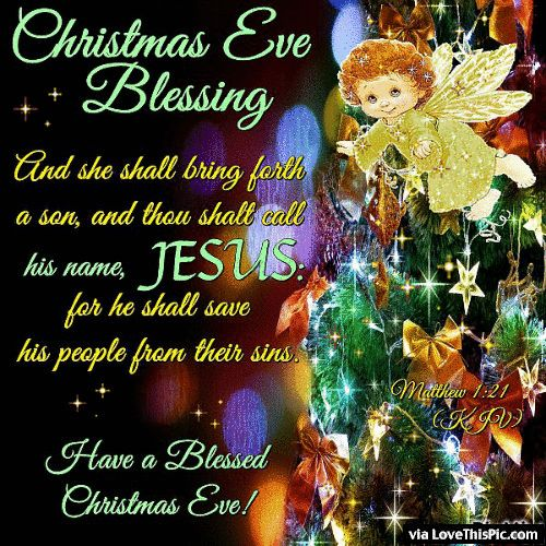 Religious Christmas Eve Blessings Quote