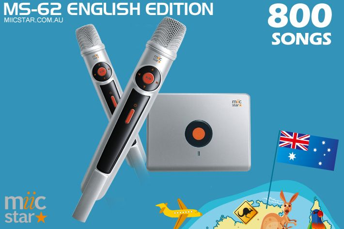 English Edition Miic Star Karaoke System with 800 Sunfly Karaoke MP3+G Karaoke Songs. A real party starter with something for every page to sing..