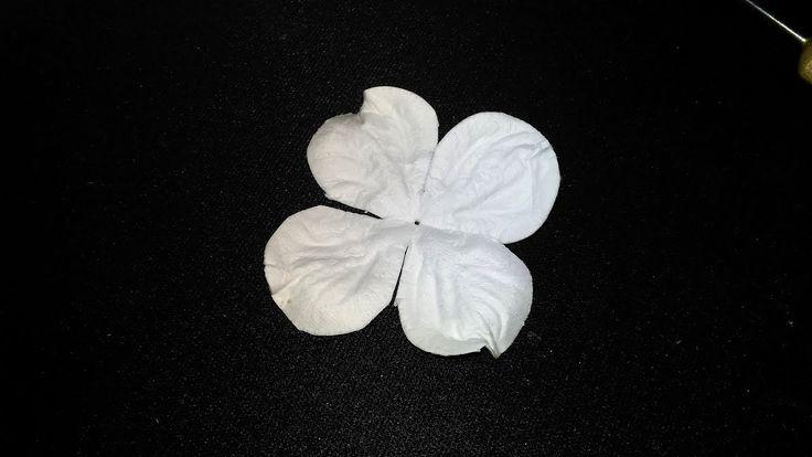 Гортензия. МК цветы из бумаги. Скрапбукинг, ч.11