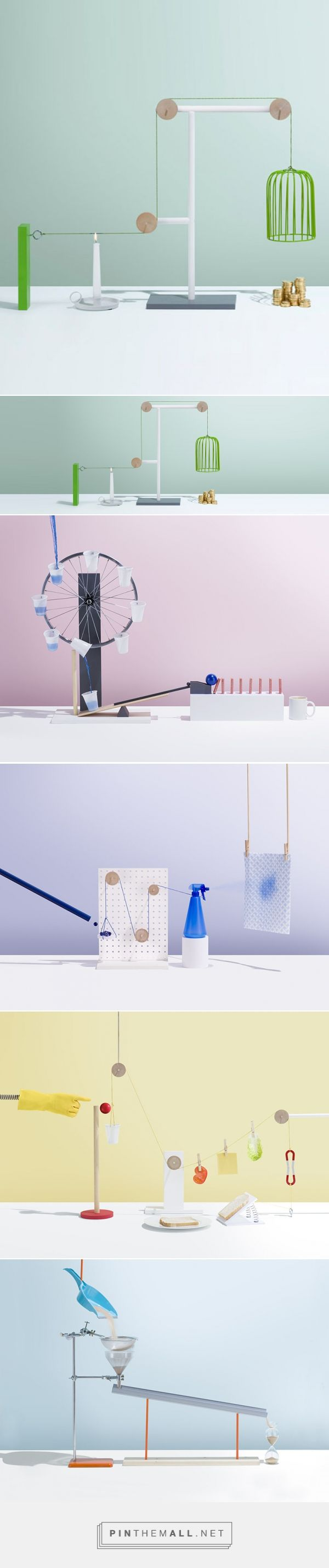 kyle bean+jonathan knowles+lauren catten's complex simplicities device is an updated look at the rube goldberg machine - created via https://pinthemall.net