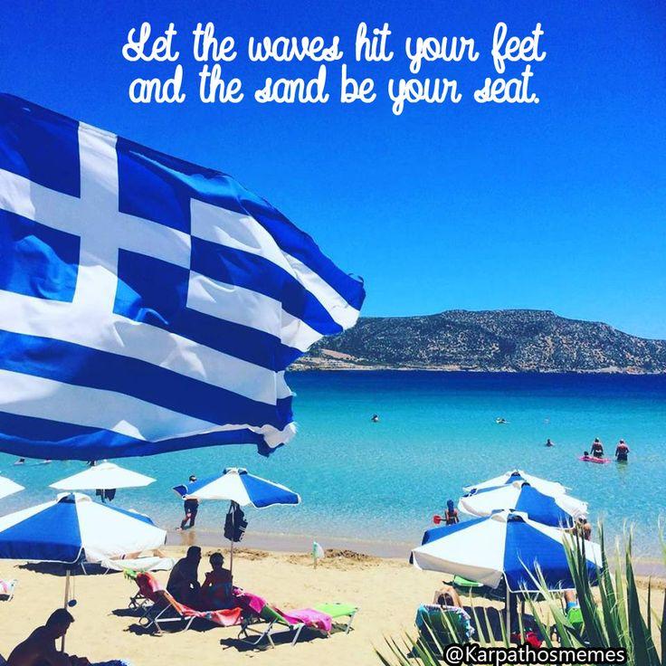 #summer #amopi #karpathos #memes #karpathosmemes #vocation #greece #greekstyle #summerquotes #quotes #sea #mountains #umbrella #joy #happiness #enjoy #your #summer #vibes