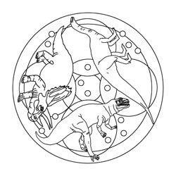 mandalas | dinosaure