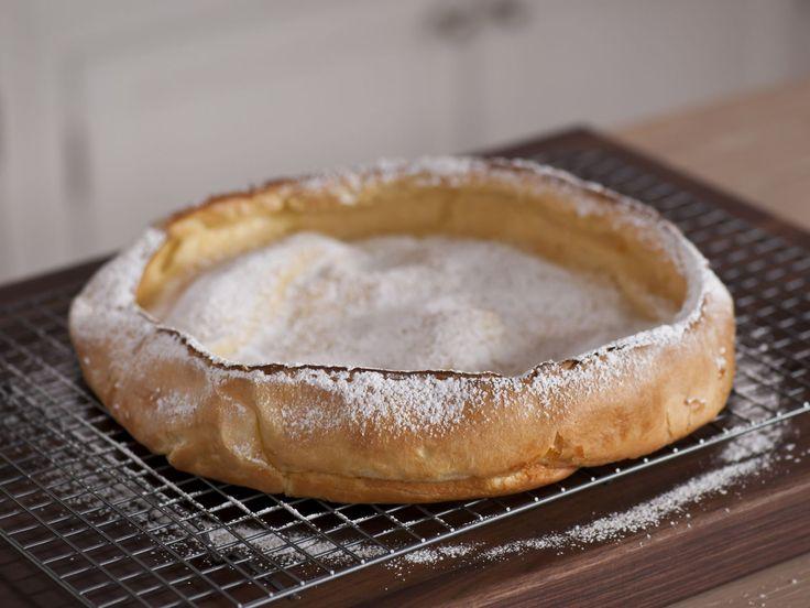 Vanilla Dutch Baby (Puffed Pancake) recipe from Melissa d'Arabian via Food Network