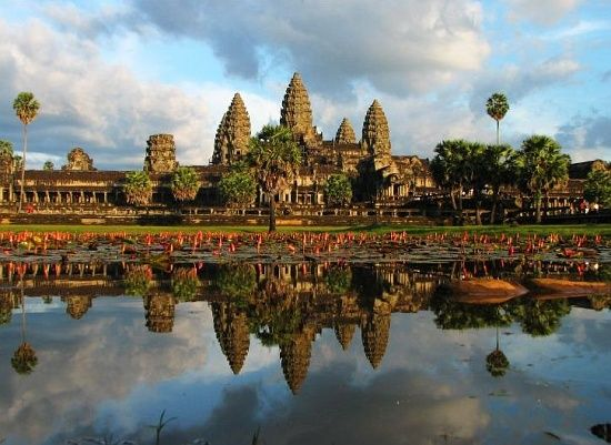 Angkor Wat, Angkor, Cambodia. Once dedicated to Vishnu and now a Buddhist temple, this architectural masterpiece is a symbol of Cambodia