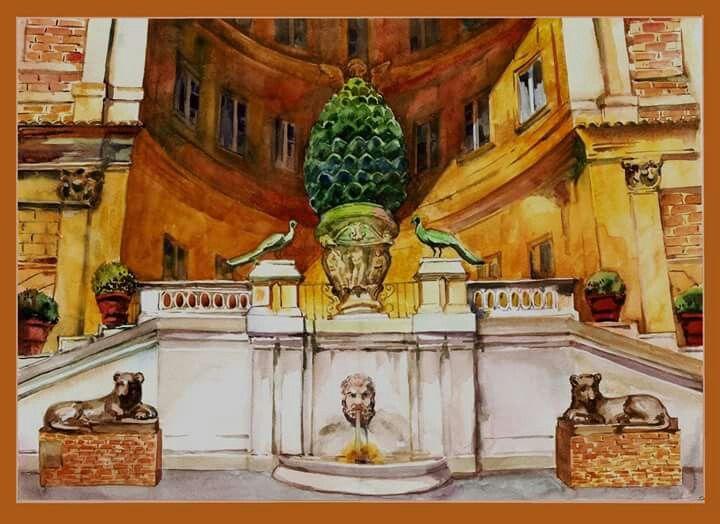 Флюра Хамидуллина Ватикан, двор
