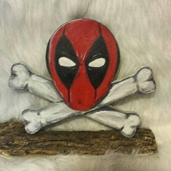 Check out this item in my Etsy shop https://www.etsy.com/listing/209421012/deadpool-hand-painted-on-paper-mache