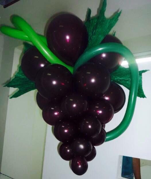 Grape balloon arrangement