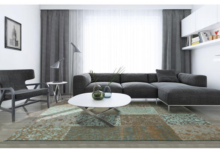Dywany Patchwork :: Dywan Vintage Patchwork 8006 sea blue - Carpets&More - wysokiej klasy dywany i akcesoria tekstylne