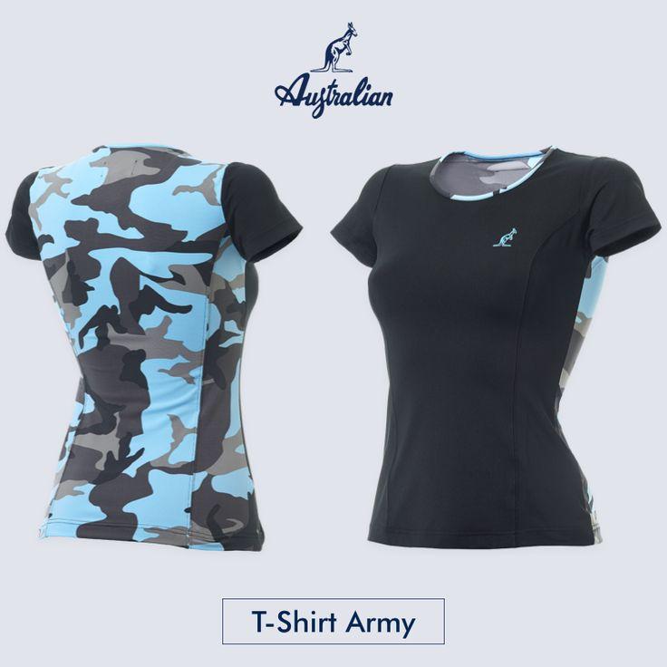 Preparatevi per vivere una giornata sportiva con un look #camouflage! Vi presentiamo la nuovissima #Tshirt Army Australian. Disponibile nel nostro store. #tennis #abbigliamento #sport