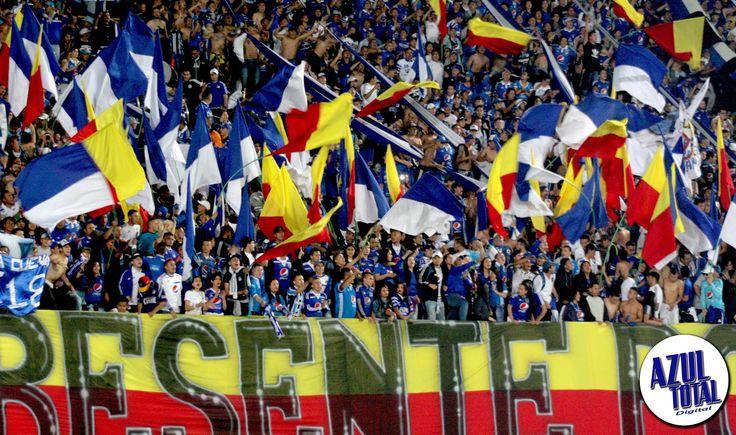 El Campín se pintó de azul frente a Atlético Nacional