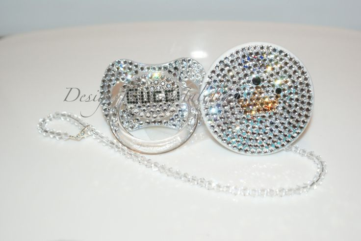 Baby Bling Pacifier Gucci made with Swarovski Crystal (Avent Philips) By Crystalolika. $40.00, via Etsy.