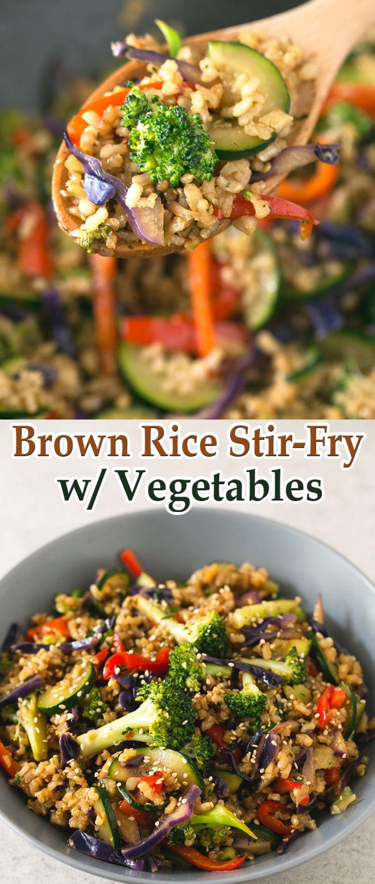 Brown Rice Stir-Fry with Vegetables
