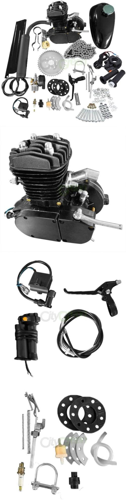 motorcycle parts: 80Cc Bike Bicycle Motorized 2 Stroke Petrol Gas Motor Engine Kit Set Black -> BUY IT NOW ONLY: $95.97 on eBay!