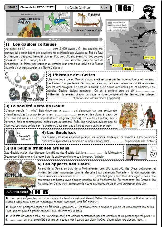 l'histoire des Celtes (fiche élève...)