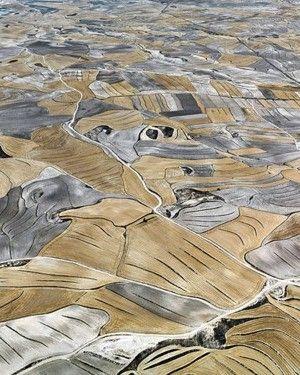 farmland, spain. aerial photography
