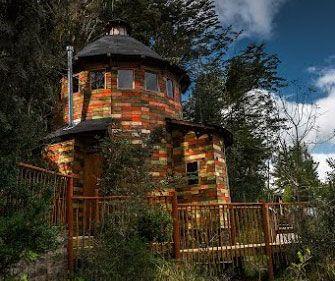cabaña torre de madera reciclada #cabañas #tinyhouse