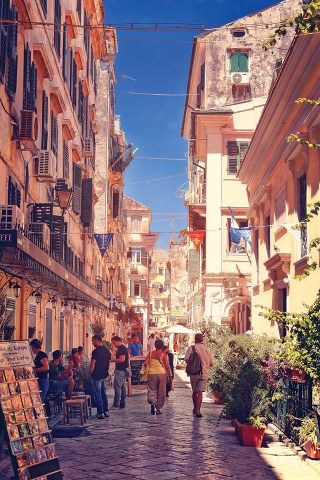 strolling around corfu town
