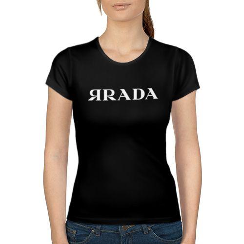 ЯRADA Женская 3D футболка с рисунком надписью принтом купить Женские футболки с…