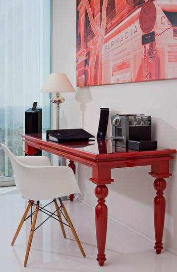 отель,красный,красные акценты,красная мебель,испанский дизайн,берселона,современный дизайн,современные интерьеры
