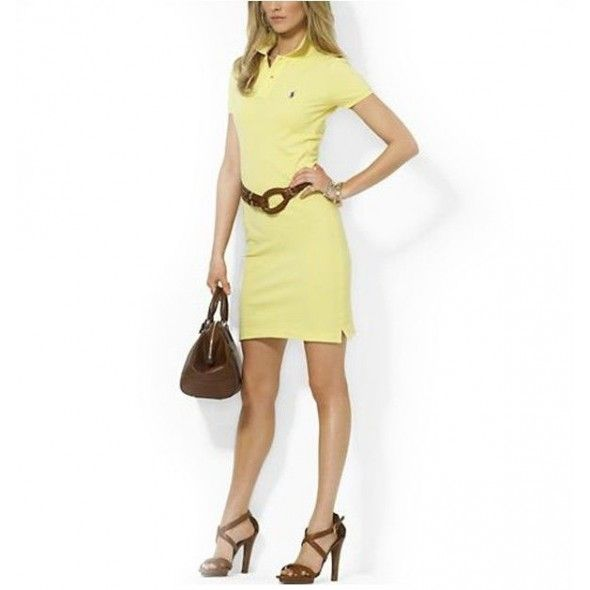 Ralph Lauren Women Mesh Yellow Polo Dresses!$38.30