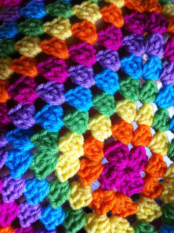 Giant Crochet Granny Baby Blanket.  All Red Heart yarns in this one.