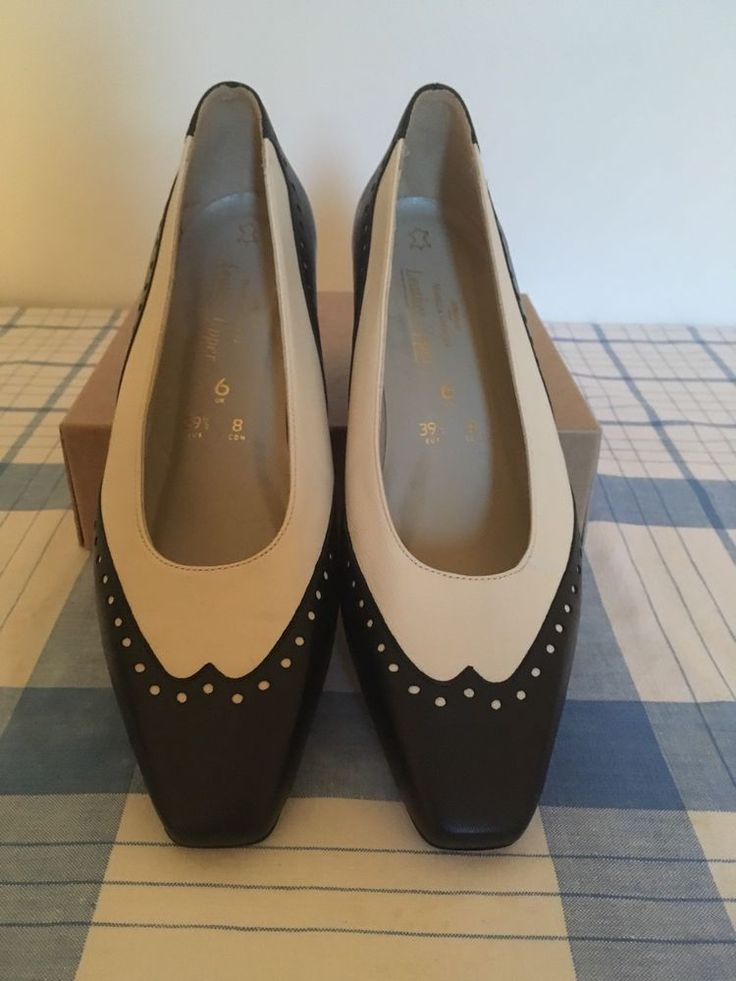 Stunning Vintage M&S 1930s Style Two Tone Brogue Court Shoes - Size 6    eBay