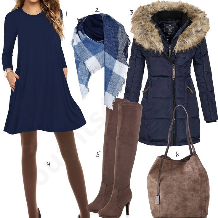 Blaues kleid taupe schuhe