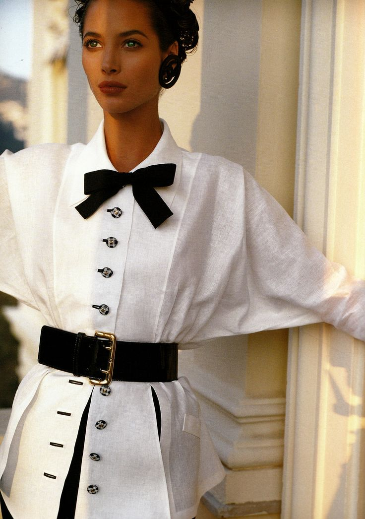 ☆ Christy Turlington | Photography by Karl Lagerfeld | For Chanel Campaign…