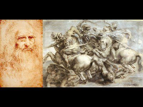 Battaglia di Anghiari di Leonardo da Vinci 1503 Palazzo Vecchio  Firenze