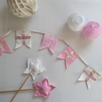 Flag bunting for girls. Party or nursery decor.