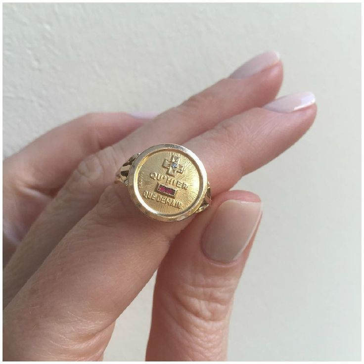 @jewellerydreaming - I'm in love with this little French love poem. An Augis charm converted into a ring.